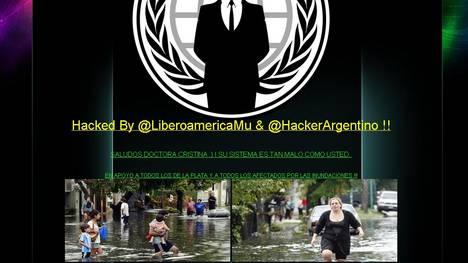 Anonymous hackeó la página Web de Tecnópolis y le dejó un mensaje a Cristina
